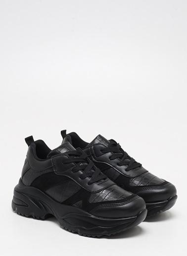 F By Fabrika Fabrika Sentetik Yüksek Nlı Bağcıklı Renk Olivia Kadın Sneaker Siyah